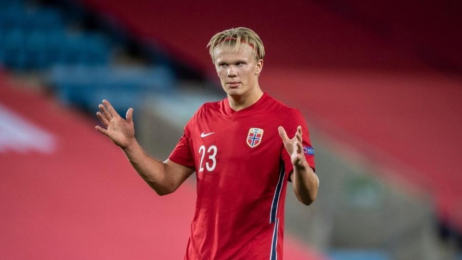Haaland na seleção da Noruega - Getty Images