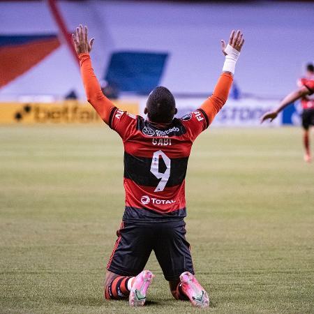 Gabigol, do Flamengo, contra a LDU - alexandre Vidal / Flamengo