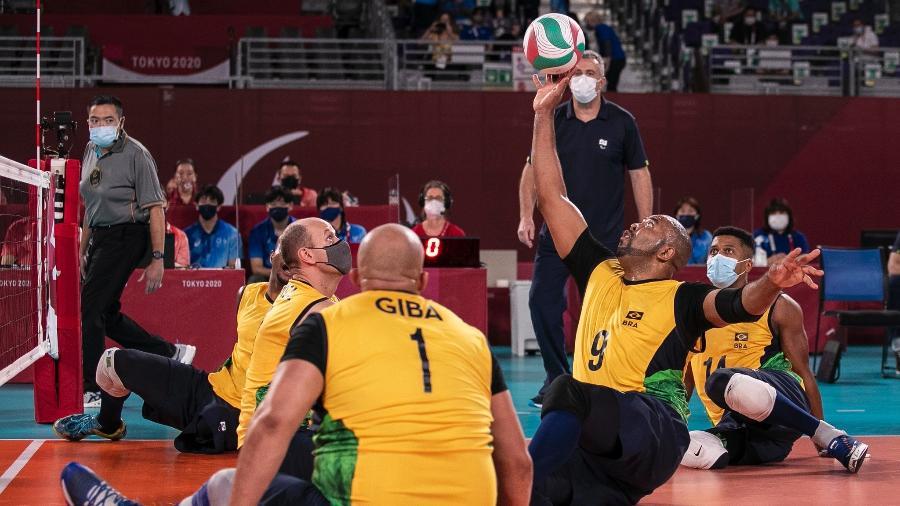Seleção brasileira masculina de vôlei sentado ficou sem medalha nas Paralimpíadas 2020 - Ale Cabral/CPB