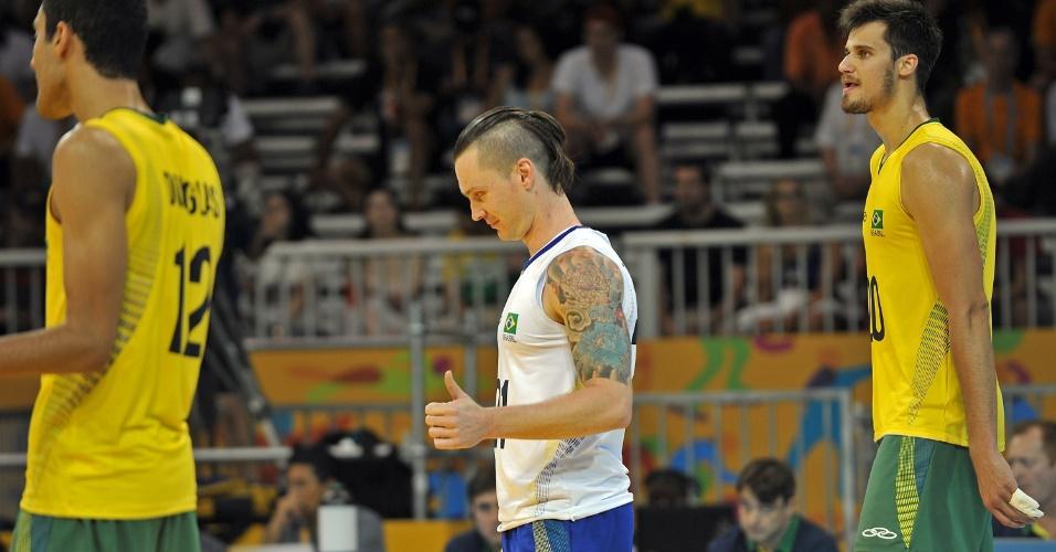 O líbero da seleção brasileira de vôlei, Tiago Brendle