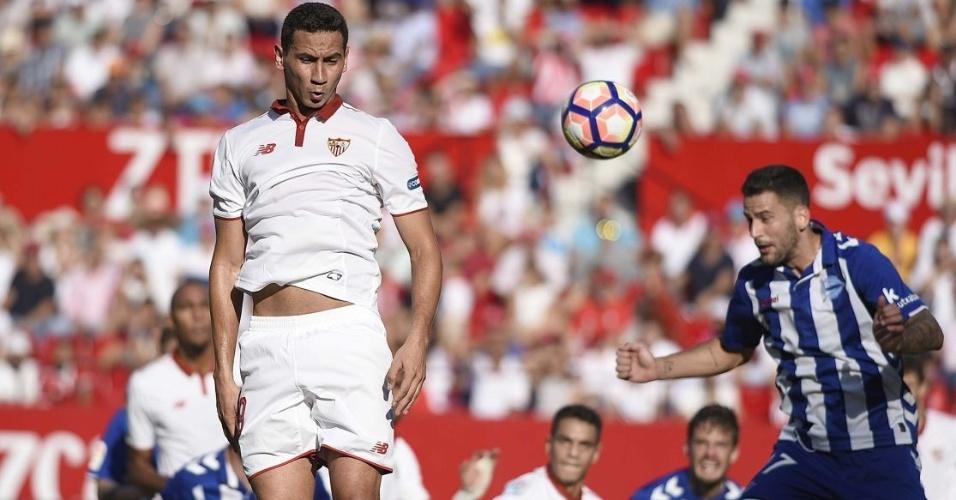 Paulo Henrique Ganso na partida do Sevilla contra o Alavés pelo Campeonato Espanhol