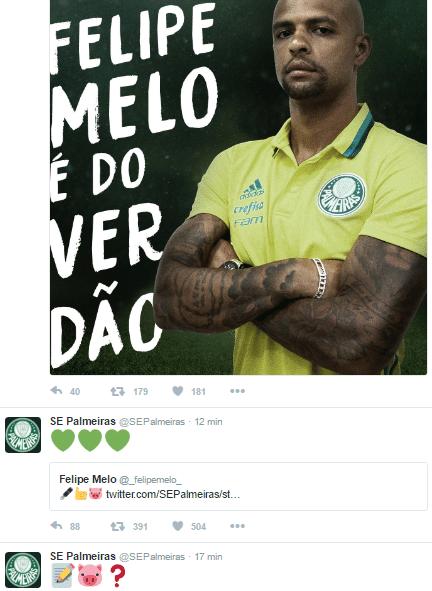 Palmeiras e Felipe Melo se