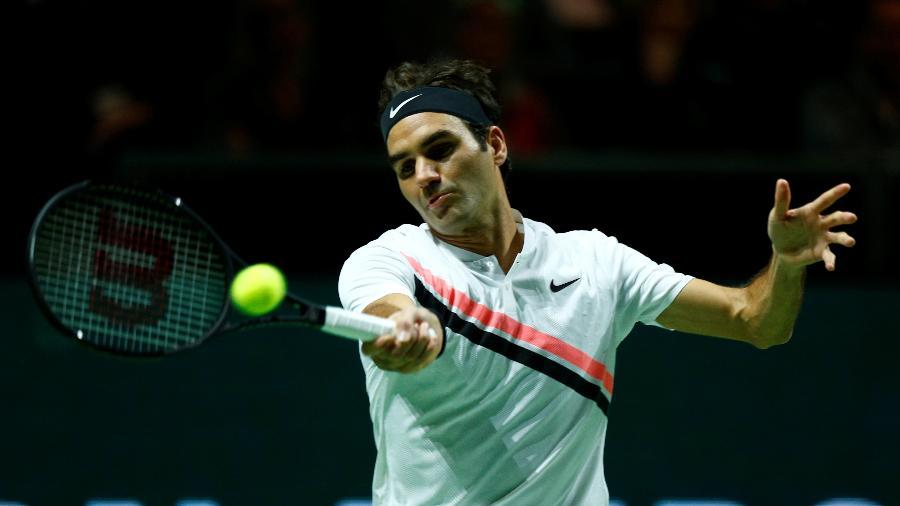 O suíço Roger Federer durante a final contra o búlgaro Grigor Dimitrov - Michael Kooren/Reuters