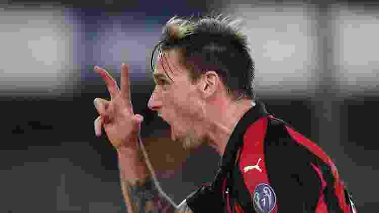Biglia, do Milan, comemora seu gol contra o Chievo pelo Campeonato Italiano - Daniele Mascolo/Reuters - Daniele Mascolo/Reuters