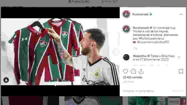 Thiago Silva camisa Messi - Reprodução - Reprodução