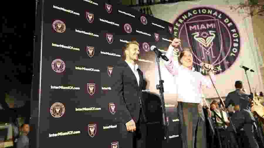 David Beckham, durante evento de lançamento do Inter Miami - Divulgação/Inter Miami