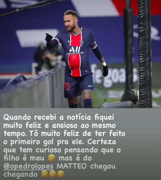 Neymar comemora nascimento de filho de amigo