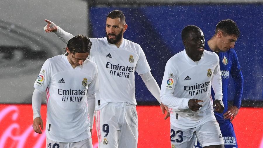 Benzema comemora gol contra o Getafe pelo Espanhol - Gabriel Bouys/AFP