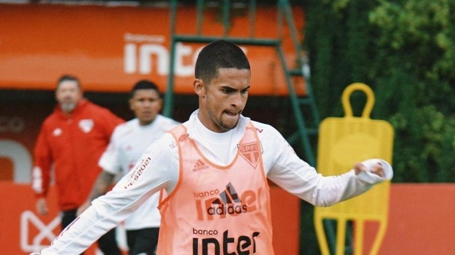 Rodrigo Nestor no treino do São Paulo - Erico Leonan / saopaulofc