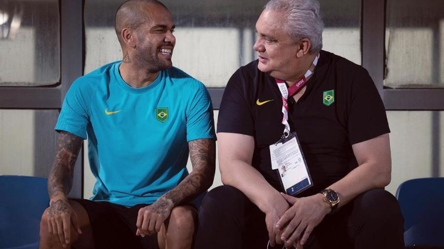 Daniel Alves e Branco durante as Olimpíadas de Tóquio  - Instagram