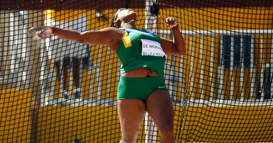 A brasileira Andressa de Morais terminou na quarta colocação no lançamento de disco
