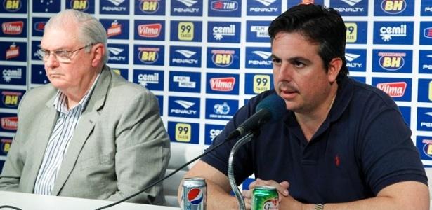 Gilvan de Pinho Tavares e Bruno Vicintin, presidente e vice do Cruzeiro, respectivamente