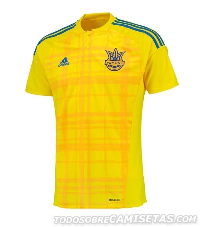 GRUPO C: Ucrânia (camisa titular, adidas)