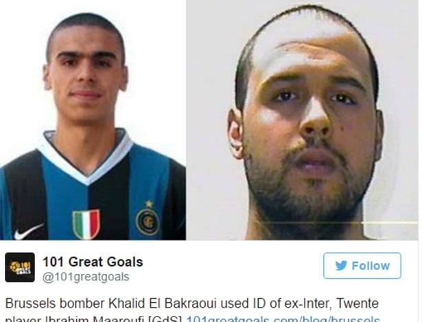 Khalid teria usado identidade de ex-jogador da Inter - Reprodução/Twitter