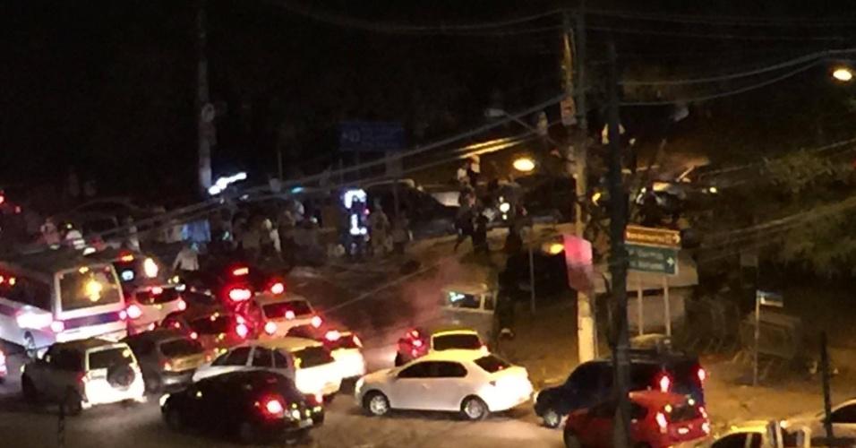 Torcedores entram em conflito com policiais após jogo no Morumbi