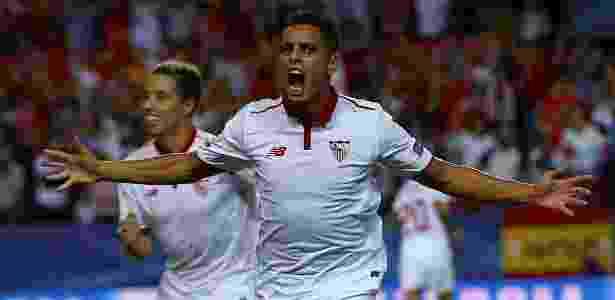 Ben Yedder festeja gol do Sevilla contra o Lyon - Marcelo del Pozo/Reuters - Marcelo del Pozo/Reuters