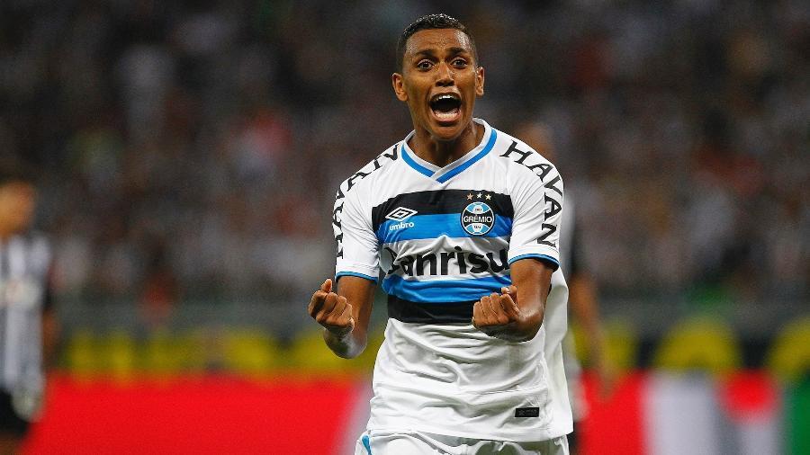 Pedro Rocha balança a rede no duelo Atlético-MG x Grêmio - LUCAS UEBEL/GREMIO FBPA