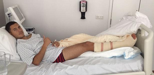 Hazard se recupera de cirurgia no tornozelo