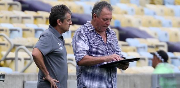 Abel Braga em ação pelo Flu; treinador quis mandar parabéns a Campello no Vasco