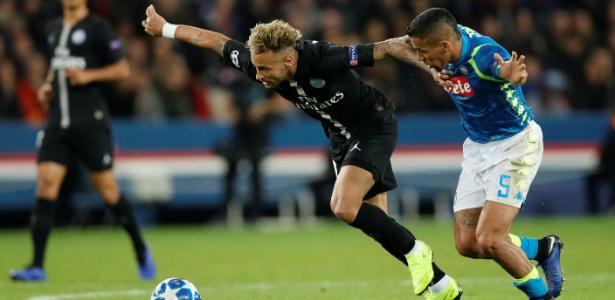 PSG sofreu para empatar em casa diante do Napoli na Liga dos Campeões - Gonzalo Fuentes/Reuters
