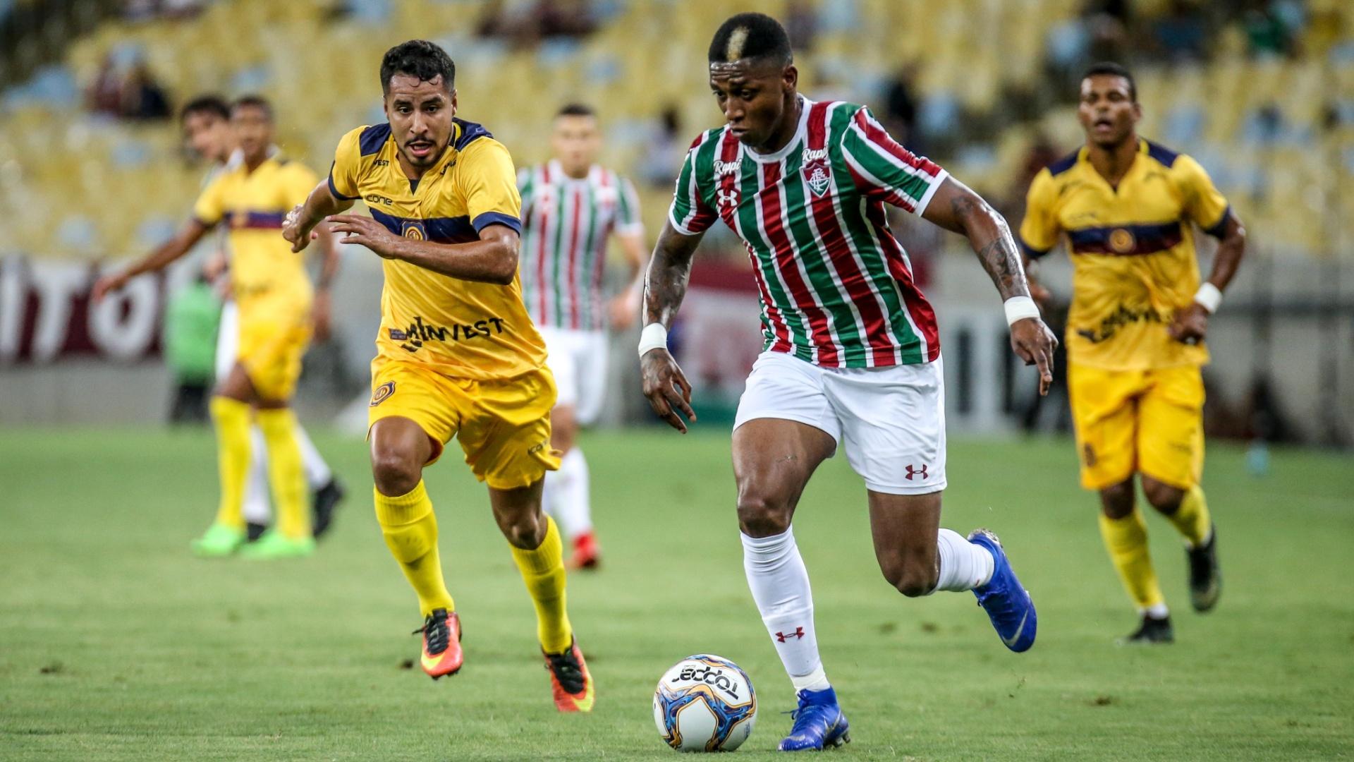 Yony, durante partida entre Fluminense e Madureira