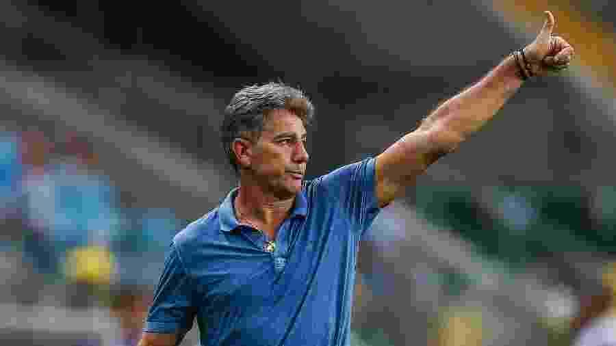 Renato Gaúcho durante Grêmio x São Luiz-RS - Lucas Uebel/Grêmio