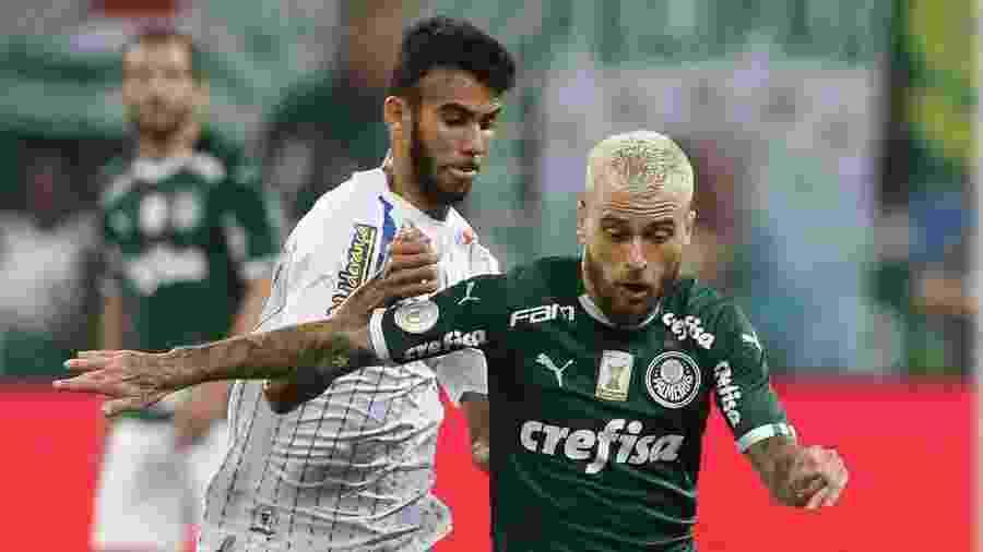 Lucas Lima em ação pelo Palmeiras contra o Avaí: assistência e boa atuação - Cesar Greco/Ag Palmeiras