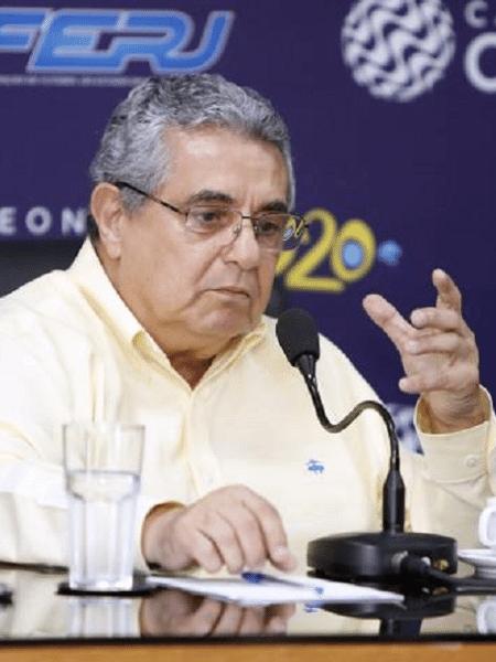 Rubens Lopes, presidente da Ferj; briga judicial com a Globo pode travar oferta pelo ppv do Campeonato Carioca - Divulgação/Ferj