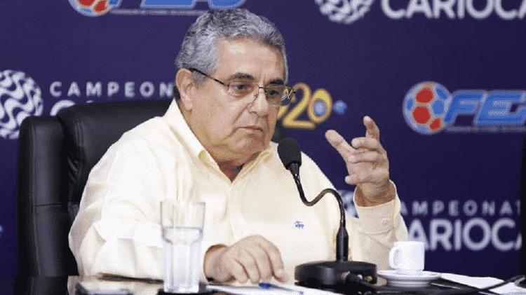Presidente da Ferj, Rubens Lopes causou polêmica com retorno do Campeonato Carioca em meio à pandemia de coronavírus - Divulgação/Ferj - Divulgação/Ferj