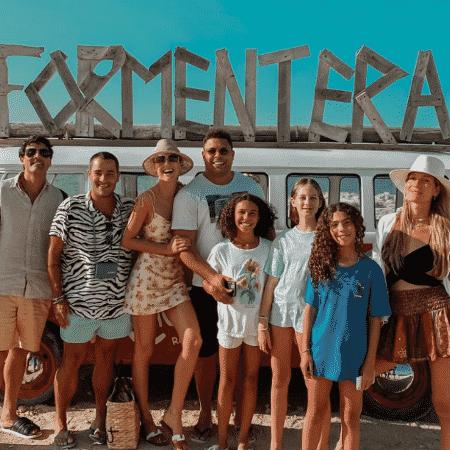 Ronaldo celebrou o aniversário com família e alguns amigos em Ibiza - Reprodução/Instagram