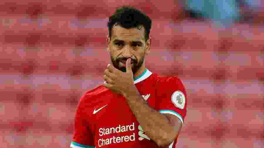 Mohamed Salah voltou a ser diagnosticado com a covid-19 e deve desfalcar Liverpool - REUTERS/Phil Noble