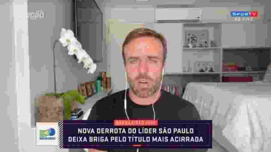 Roger Flores se decepciona com trabalho de Rogério Ceni no Flamengo - Reprodução/SporTV