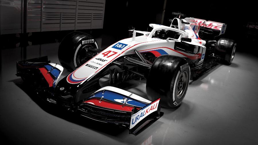 A empresa de fertilizantes russa Uralkali, patrocinadora de Mazepin, agora também é a marca principal da Haas - Divulgação/Haas