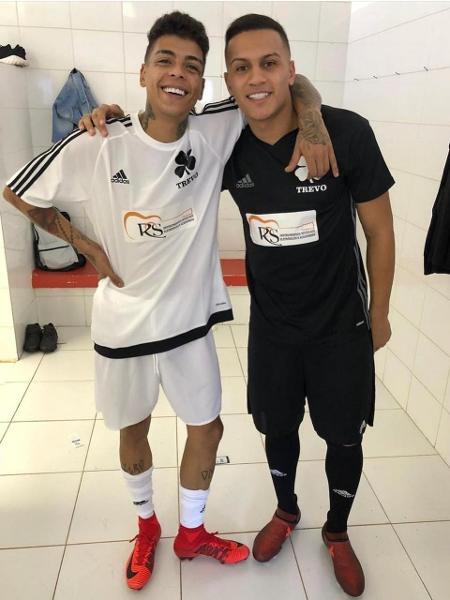 Kevin e Léo Jabá: jogador do Vasco era muito amigo do funkeiro e recebeu mensagem do MC antes do clássico - Reprodução / Instagram