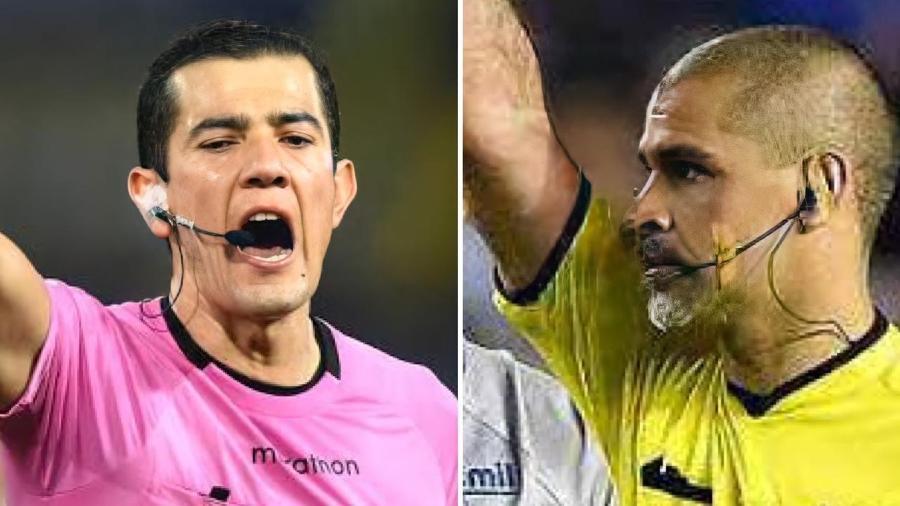 Rojas e Aquino foram suspensos após apitarem jogos de Atlético-MG e Cruzeiro contra o Boca, em La Bombonera - Reprodução