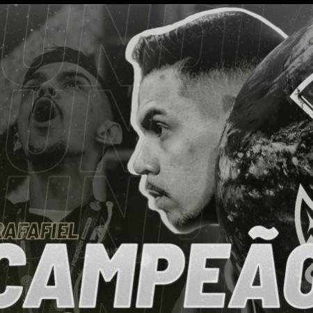 Rafafiel, atleta do Corinthians, foi campeão mundial de PES 2021 no Xbox One - Reproduição/Instagram