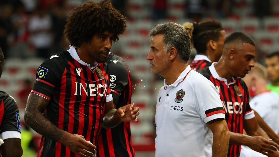Dante e o técnico Christopher Galtier são responsáveis pelo sucesso do Nice no Campeonato Francês - Divulgação