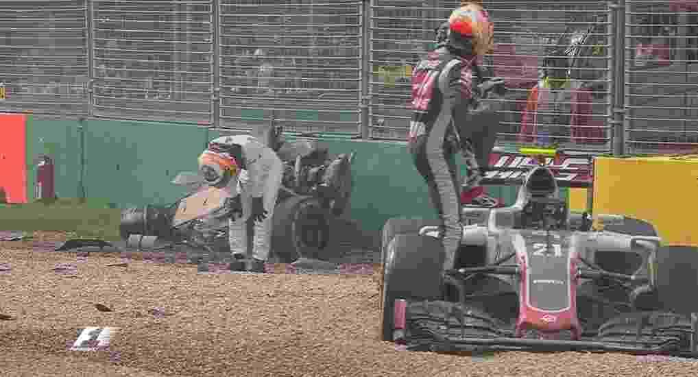 Alonso deixou o carro andando após o acidente - Reprodução