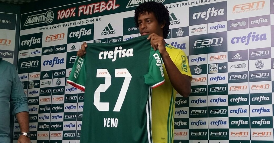 Atacante Keno, ex-Santa Cruz, é aprestado pelo Palmeiras