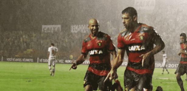 Diego Souza fez gol e igualou Leonardo - Reprodução/Sport/Twitter - Reprodução/Sport/Twitter