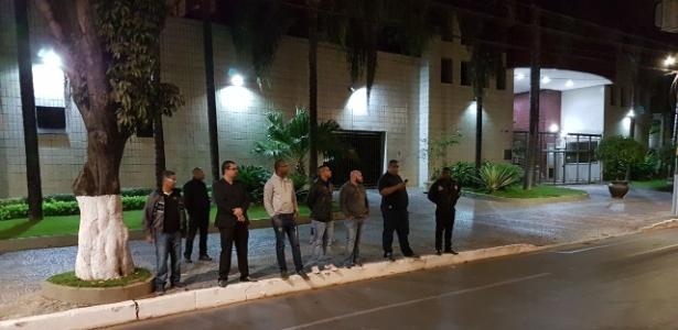 Segurança foi reforçada no hotel do Flamengo antes da decisão da Copa do Brasil