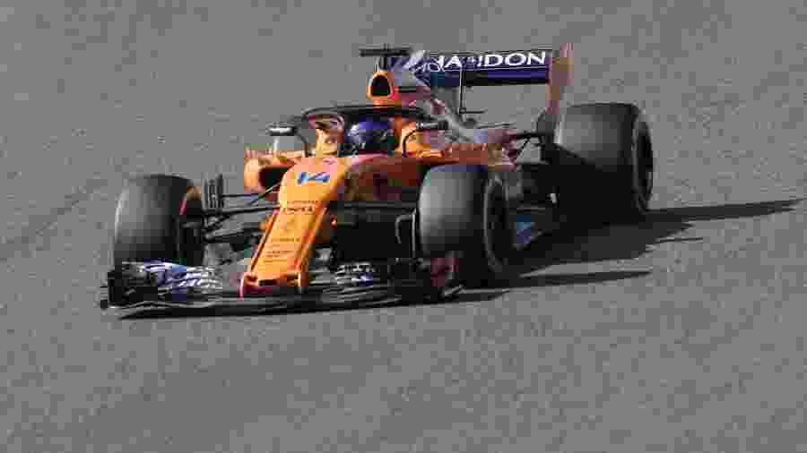 Fernando Alonso, da McLaren, durante GP do Japão - Behrouz Mehri/AFP
