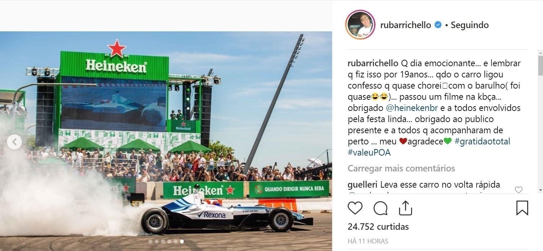Barrichello Se Diz Emocionado Por Voltar A Pilotar F1 Em Porto Alegre