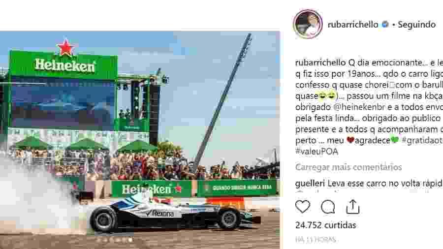 c55445359a Rubinho se emociona ao voltar a pilotar um F1 em Porto Alegre - 11 ...