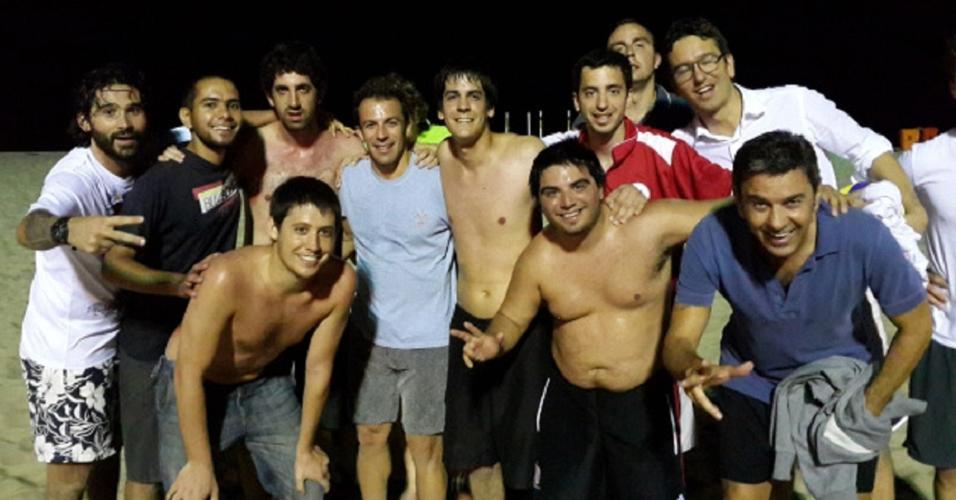 Del Piero praia Copacabana jornalistas argentinos