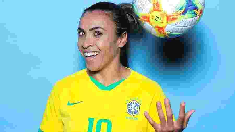 Marta, em retrato oficial antes da Copa do Mundo de 2019, na França - Naomi Baker - FIFA/FIFA via Getty Images