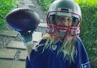 Te cuida, Edelman! Filha de Tom Brady posa com uniforme dos Patriots - @tombrady/Instagram