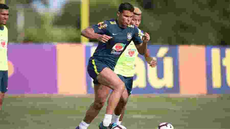 Thiago Silva não gostou da postura de Messi em amistoso na Arábia Saudita - Lucas Figueiredo/CBF