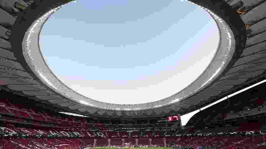 Wanda Metropolitano, estádio do Atlético de Madri, recolhe dados para mostrar a preferência dos torcedores - Gonzalo Arroyo Moreno/Getty Images