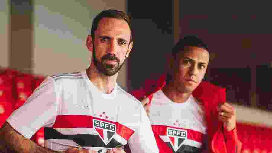 A estreia da nova camisa do São Paulo acontecerá na Libertadores - Divulgação / SPFC